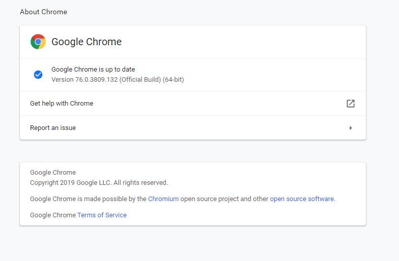 Chrome Latest Build